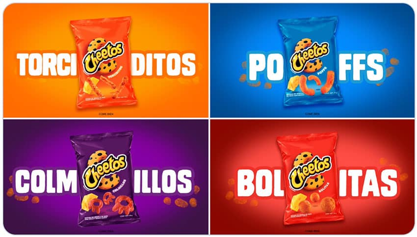 Cheetos' new look.