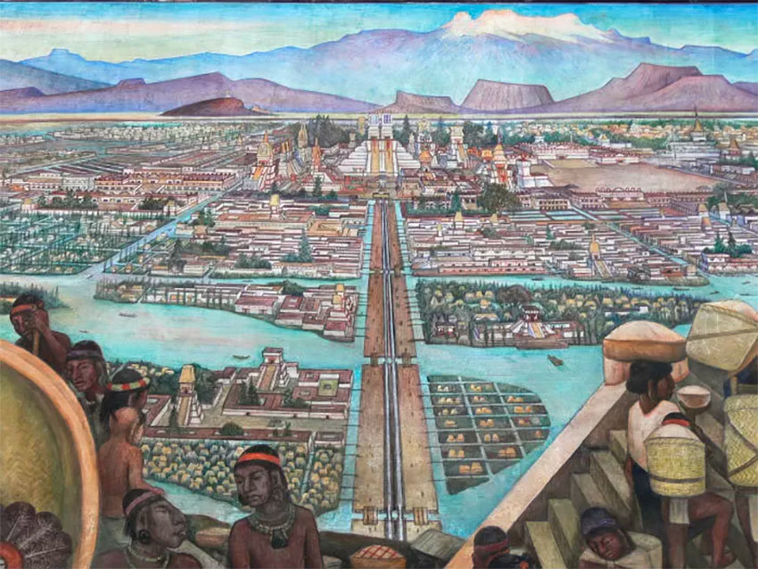 The ancient city of Tenochtitlán.