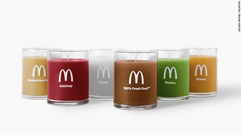 McDonald's six candles come in all the scents you'd expect.
